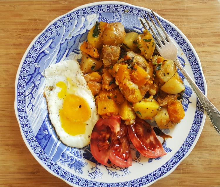 potatoes and squash plated